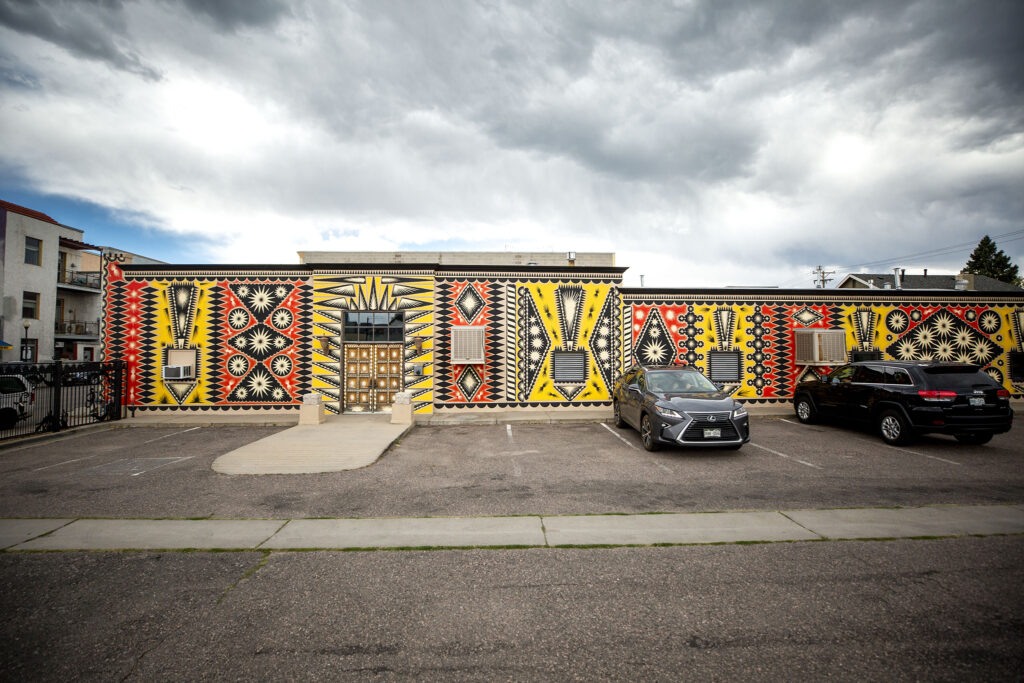 A painted wall by Shrine on Santa Fe Drive at 10th Avenue. Aug. 12, 2020.