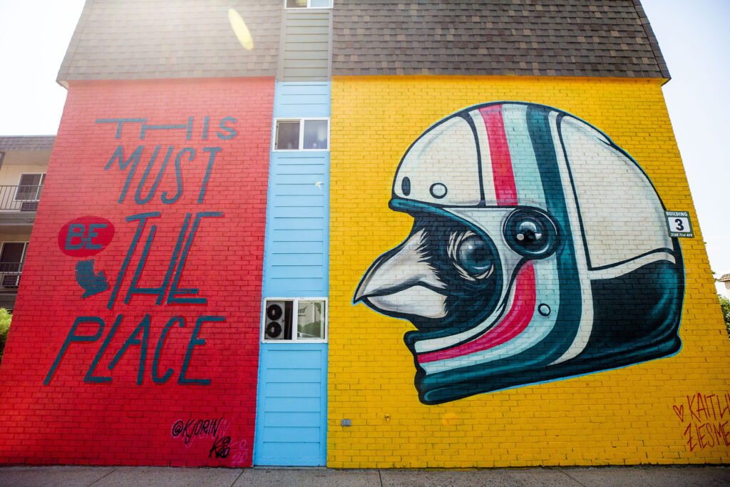 One of two murals by Kaitlin Orin and Kaitlin Zeismer on an apartment building at 3160 W. 71st Ave. in Westminster, part of Babe Walls 2020. Aug. 19, 2020.