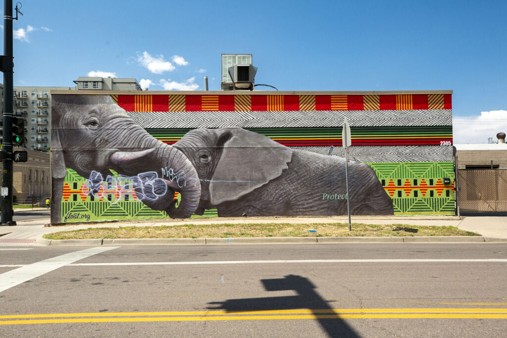 A mural by Patrick McGregor, Anthony Garcia and Nick Andam at the intersection of Park Avenue and Tremont Street. Aug. 27, 2020.