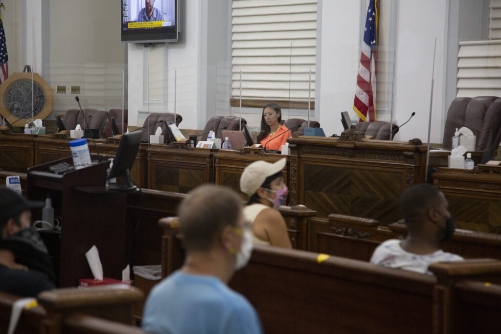 Councilwoman Candi CdeBaca was the only member in council chambers for their weekly meeting on Monday, Aug. 17, 2020.