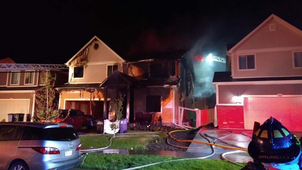 Denver Fire crews put out a fire at 5312 N. Truckee St. in Green Valley Ranch.