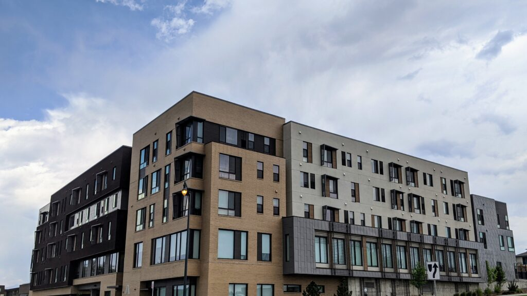 Maiker Housing Partners has its headquarters in this Westminster housing complex pictured Aug. 6, 2020. (Donna Bryson/Denverite)