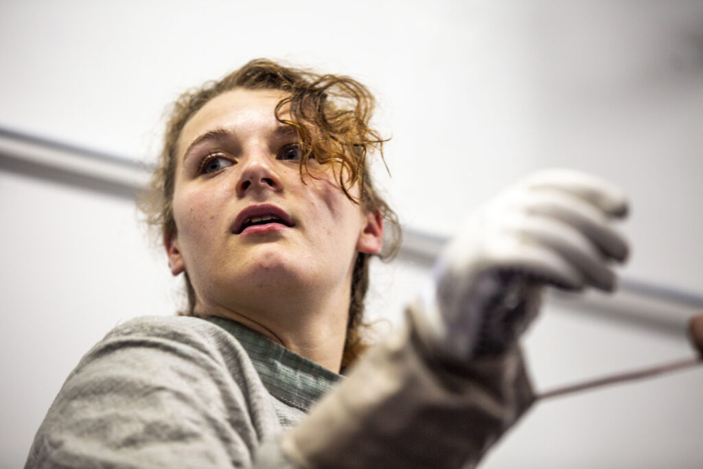 Hailey Bauer trains at the Denver Fencing Center in Ruby Hill. Aug. 20, 2020.