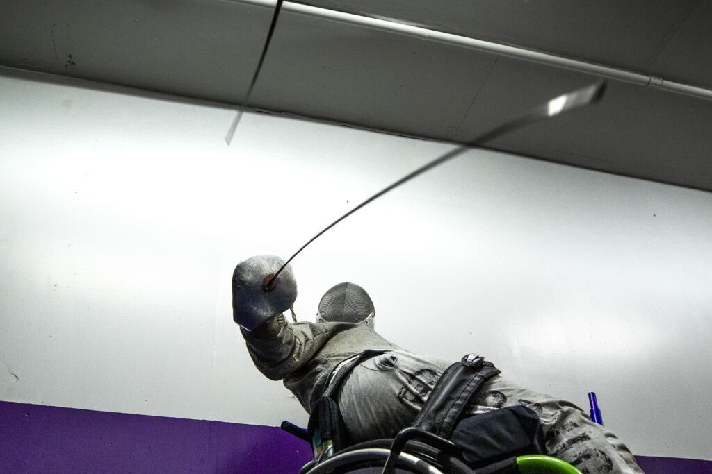 Hailey Bauer in training at the Denver Fencing Center in Ruby Hill. Aug. 20, 2020.