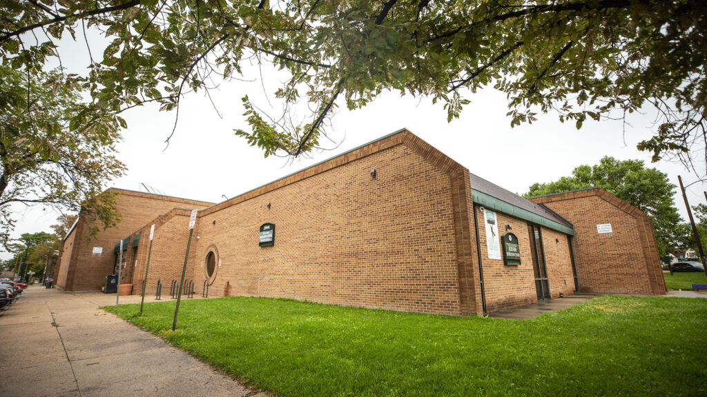 The Glenarm Recreation center has opened as an emergency shelter during a summer snowstorm. Sept. 8, 2020.