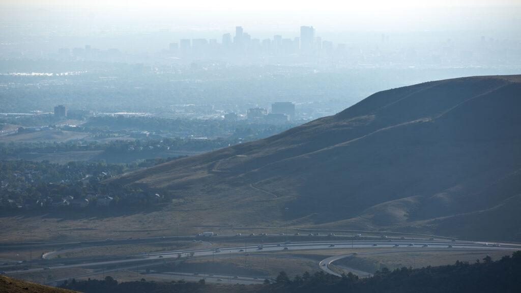 Hazy days over Denver, seen from the Mother Cabrini Shrine in Golden. Sept. 24, 2020.