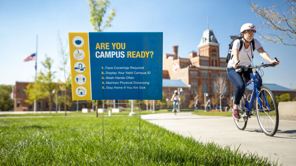 A sign of the times outside of the Tivoli Student Union on Denver's Auraria Campus. Sept. 30, 2020.