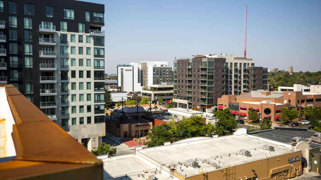 A view of Cherry Creek from 135 Adams St. Sept. 30, 2020.