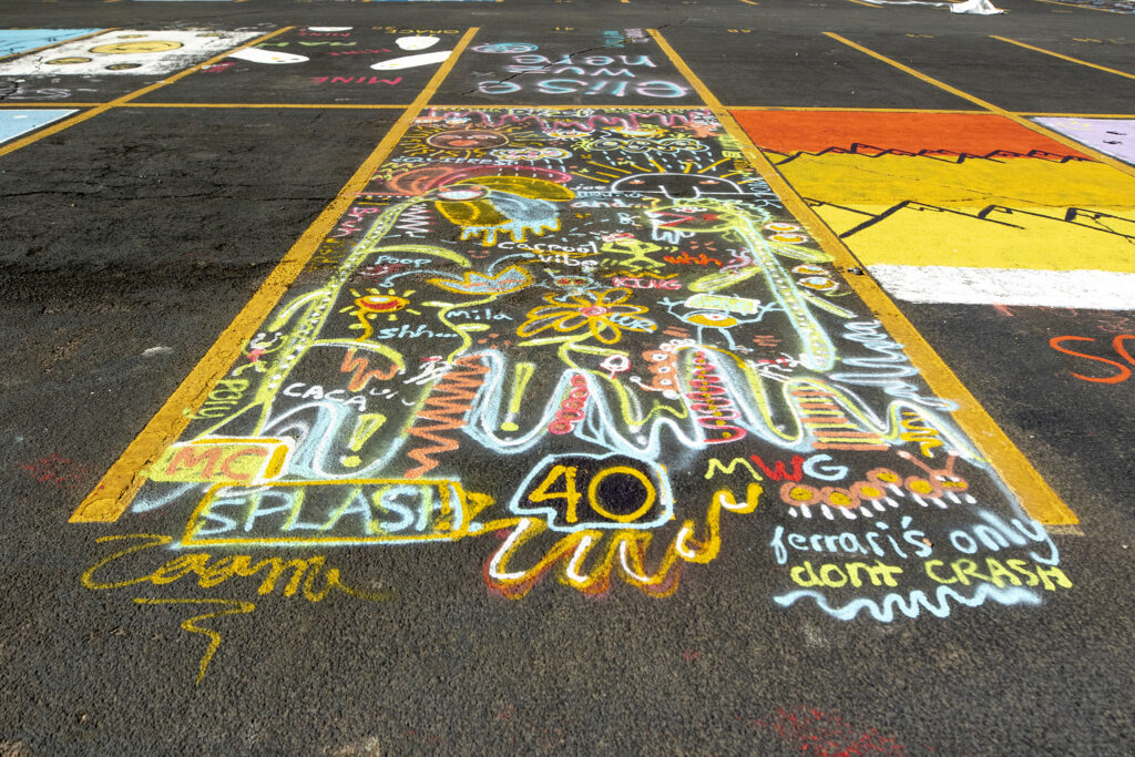 Parking space number 40 at East High School. Oct. 16, 2020.