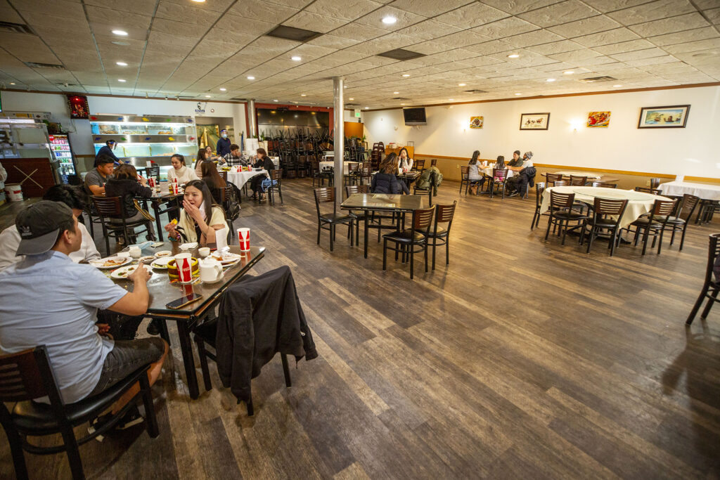 Star Kitchen on Federal Boulevard seats significantly fewer customers than they did before the pandemic. Nov. 10, 2020.