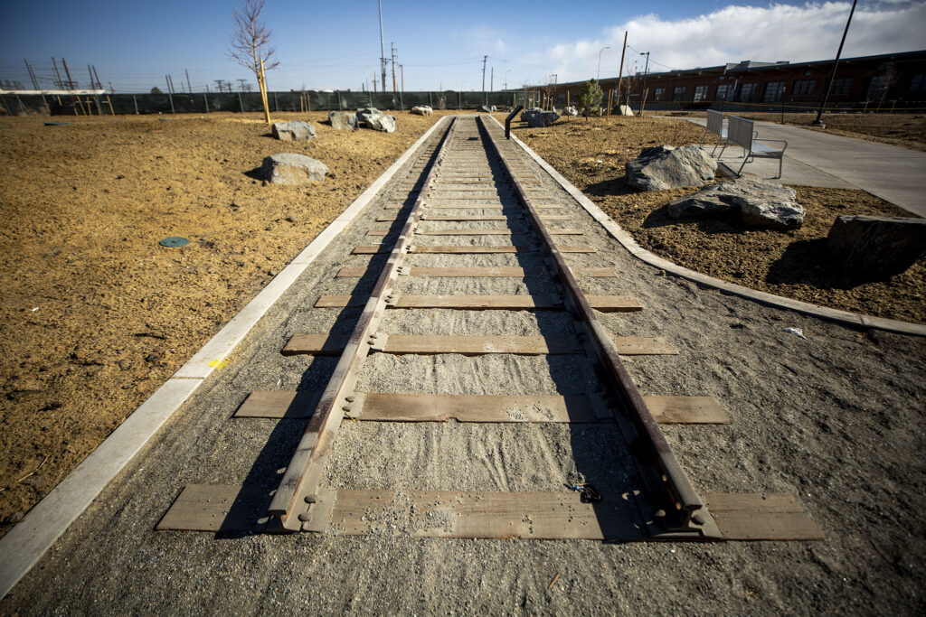 Old railway tracks along the 39th Avenue Greenway, which has just officially opened to the public. Nov. 14, 2020.