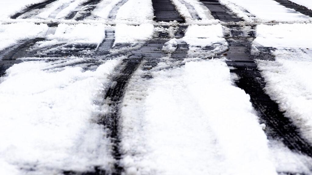 An unplowed road in Denver's East Colfax neighborhood. Nov, 24, 2020.
