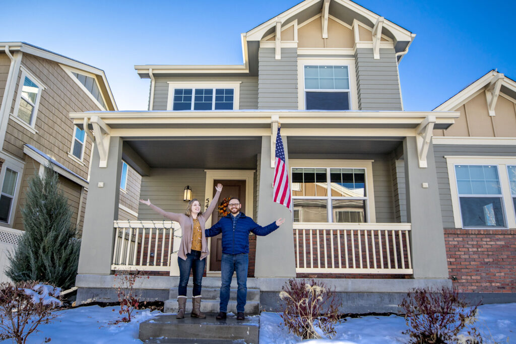 Anna and Pete Franaszek at their new home in Westminster. Nov. 25, 2020.