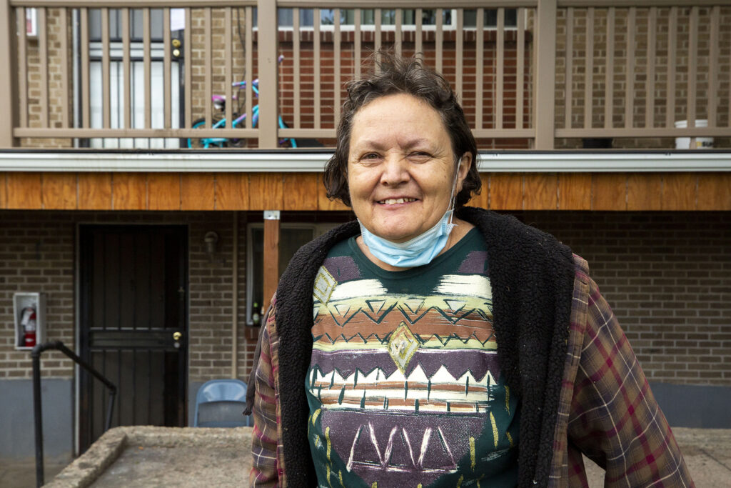 Karin Carpenter lives at the eastern end of Bruce Randolph Avenue. Sept. 11, 2020.