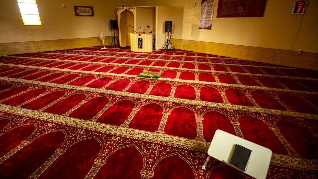 Inside the Northeast Denver Islamic Center, just off Bruce Randolph Avenue at Albion Street. Sept. 11, 2020.