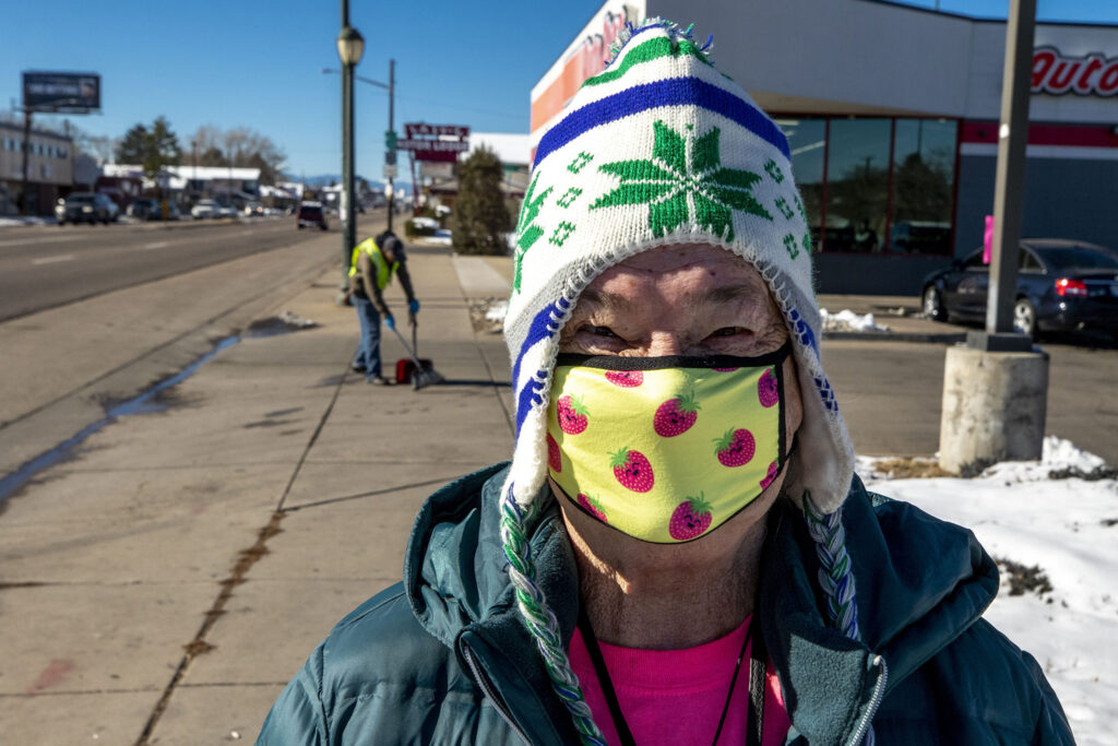Katherine Dewey said she would invest the money in better highways. East Colfax Avenue. Nov. 25, 2020.