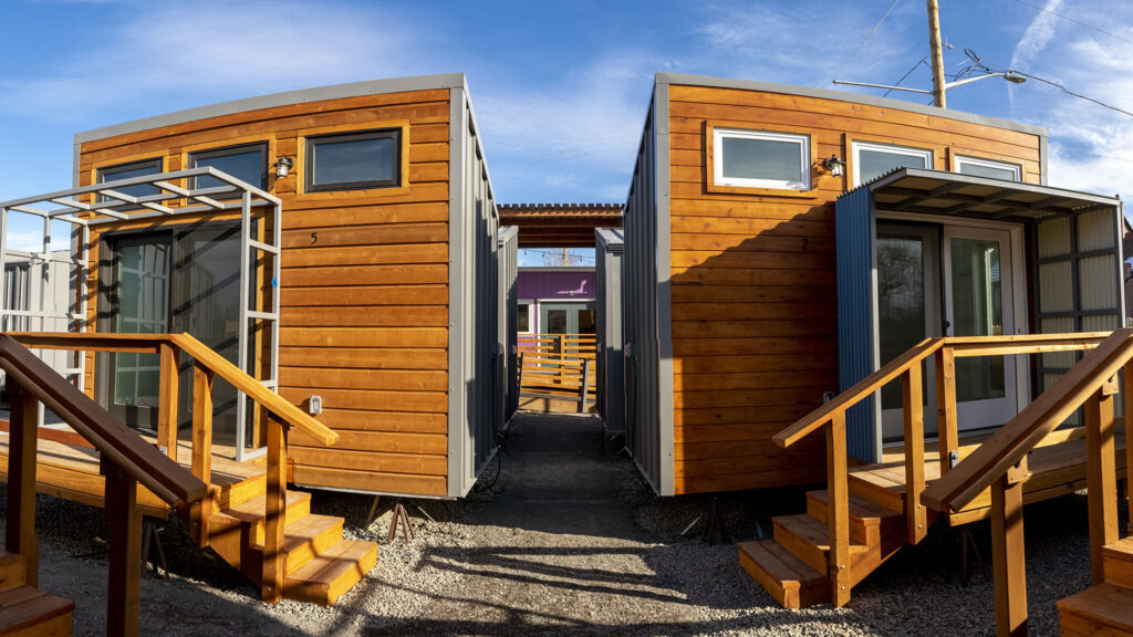 The new Women's Village of tiny homes at Clara Brown Commons. Dec. 2, 2020.