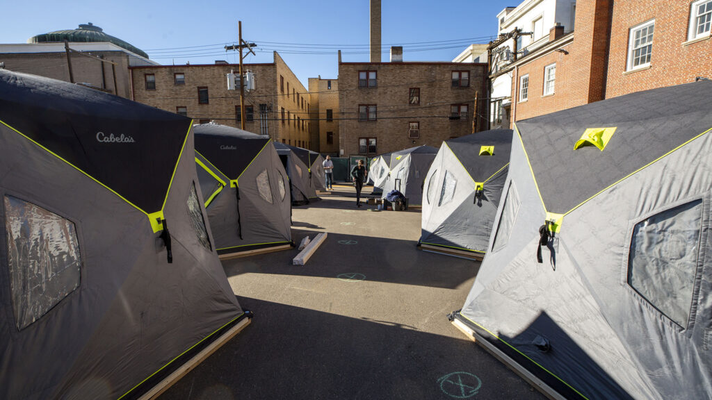 Denver's first safe outdoor camping site will soon open here next to First Baptist Church in Capitol Hill. Dec. 4, 2020.