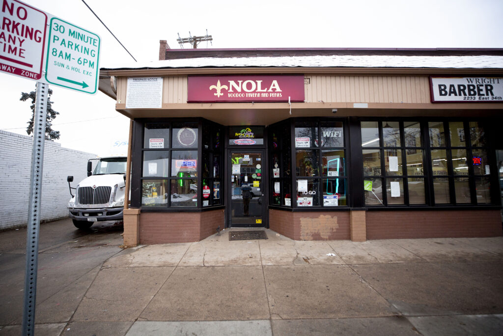 Nola Voodoo Tavern and Perks at Bruce Randolph Avenue and York Street. Dec. 11, 2020.