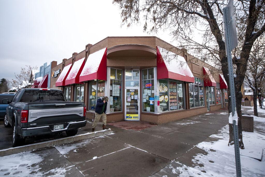 Tacos El Ranchito at Bruce Randolph Avenue and York Street. Dec. 11, 2020.