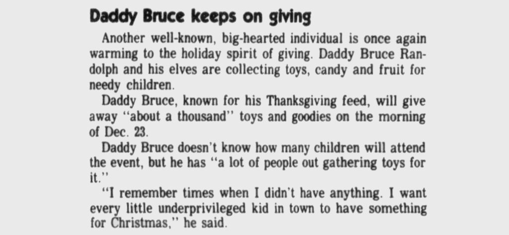 A story in the Broomfield Enterprise, Dec. 18, 1986.