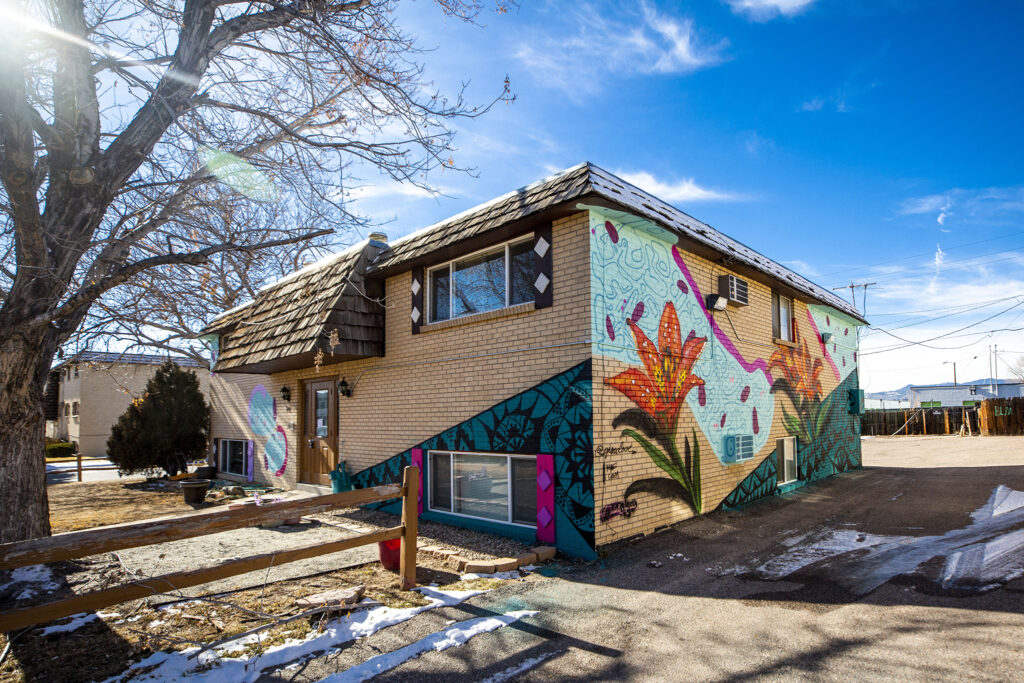 A mural by Grow Love, aka Robyn Frances, Moe Gram and Tribal Murals painted during Babe Walls 2020 in Westminster. Jan. 12, 2020.