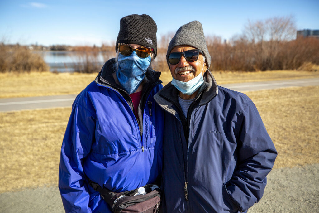 Andrea Hall and Joel Sobel on a walk around Sloan's Lake. Jan. 19, 2020.