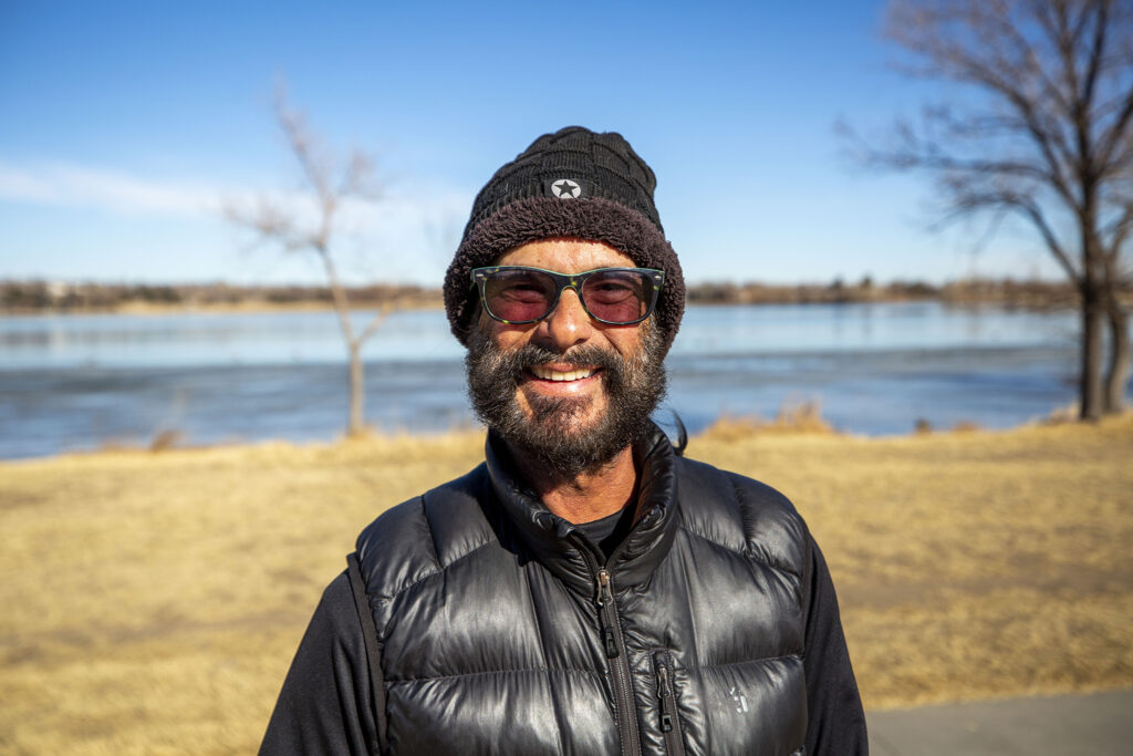 Craig Andres on a walk around Sloan's Lake. Jan. 19, 2020.
