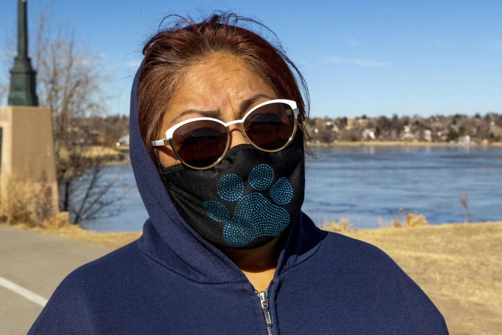 Jean De La Cruz on a walk around Sloan's Lake. Jan. 19, 2020.