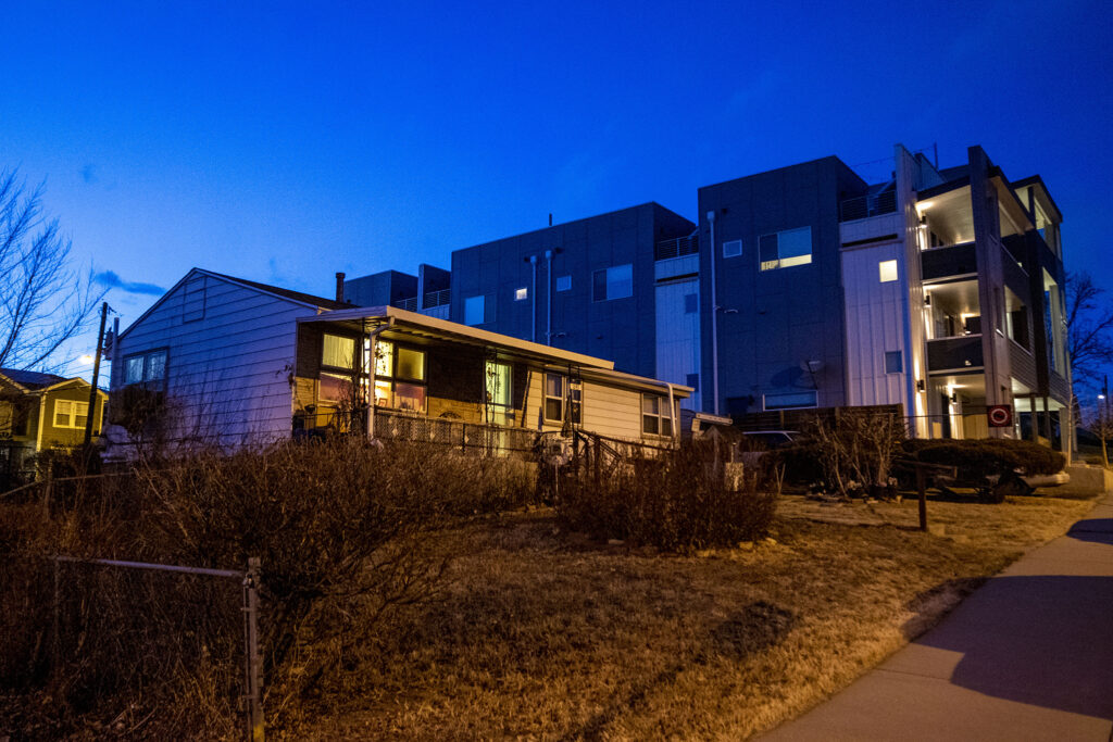 Nettie Moores langjähriges Zuhause bei Lakewood Gulch in der West Colfax Nachbarschaft von Denver.  22. Januar 2021.