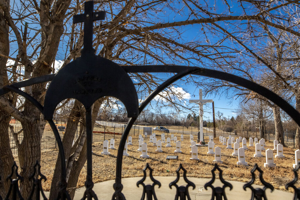 An old cemetery at Loretto Heights. Harvey Park South, Feb. 4, 2021.