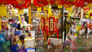 Truong An Gifts, in Federal Boulevard's Far East Center, is busy with Lunar New Year shoppers. Feb. 9, 2021.