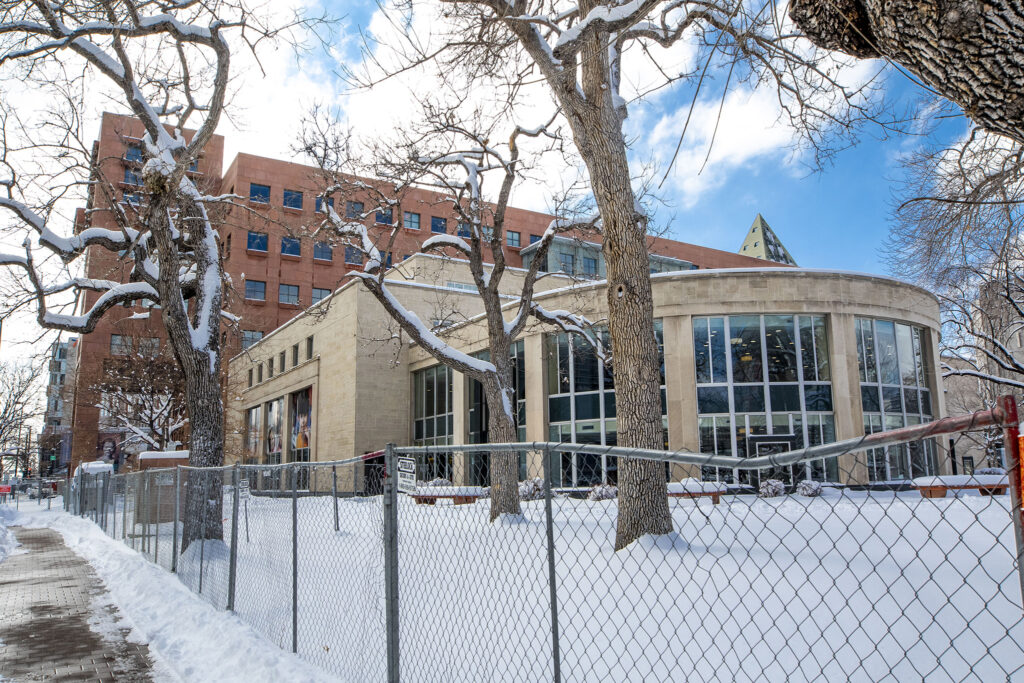 The Denver Public Library is still closed due to COVID-19. Feb. 25, 2021.