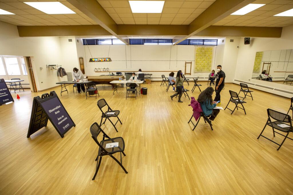 A city-run COVID vaccine clinic at the Barnum Recreation Center. March 10, 2021.