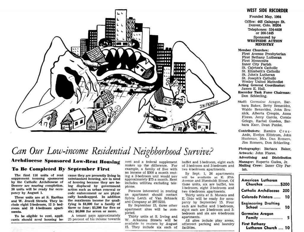 """""""Can our low-income neighborhood survive?"""" headlines a June 1, 1970 issue of the West Side Recorder."""