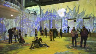 Immersive Van Gogh Denver is coming soon. This is a picture of Immersive Van Gogh Chicago.
