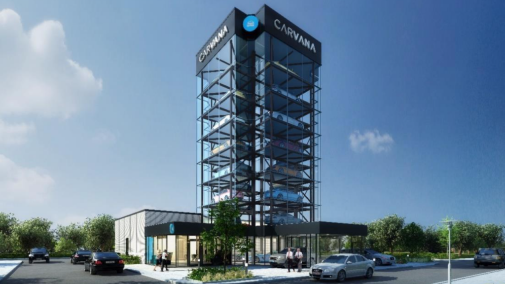 An image of the car dealership filed with Denver Community Planning and Development.