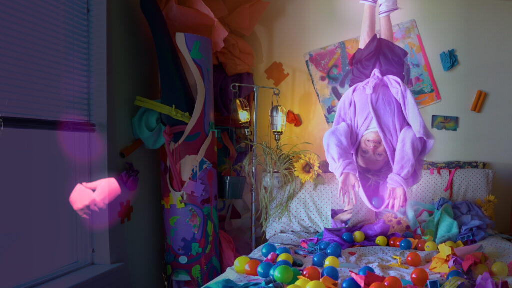 """Kalyn Heffernan in the video for Wheelchair Sports Camp's new song, """"Yess I'm a Mess."""""""