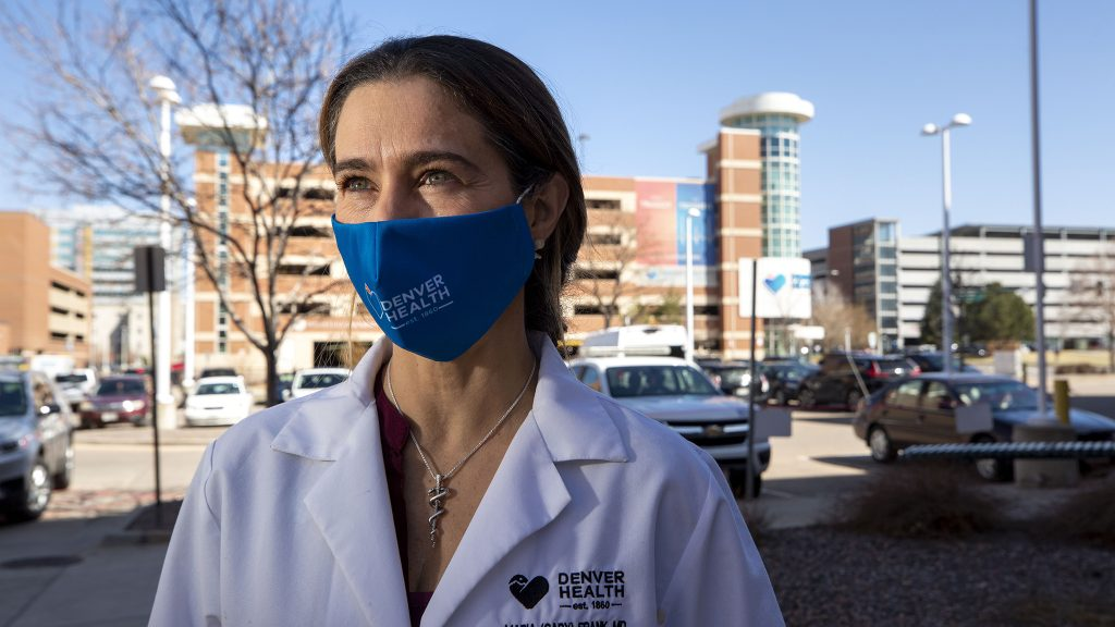 Dr. Gaby Frank works at Denver Health. March 31, 2021.