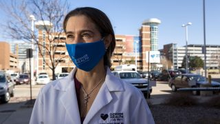 Dr. Gaby Frank works at Denver Health. March 31, 2021.