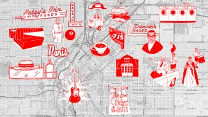 A compilation of items from Denverites' mental maps.