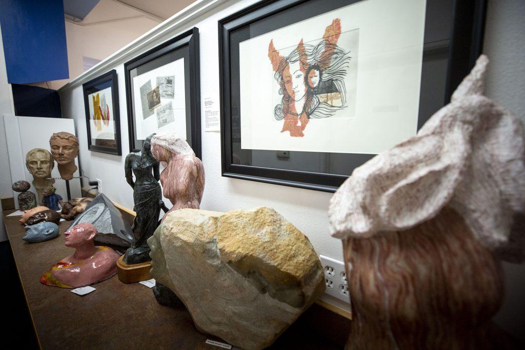 Niza Knoll's art inside her space on Santa Fe Drive, the Niza Knoll Gallery, on April 10, 2021.