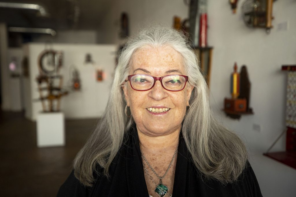 Niza Knoll stands in her space on Santa Fe Drive, the Niza Knoll Gallery, on April 10, 2021.