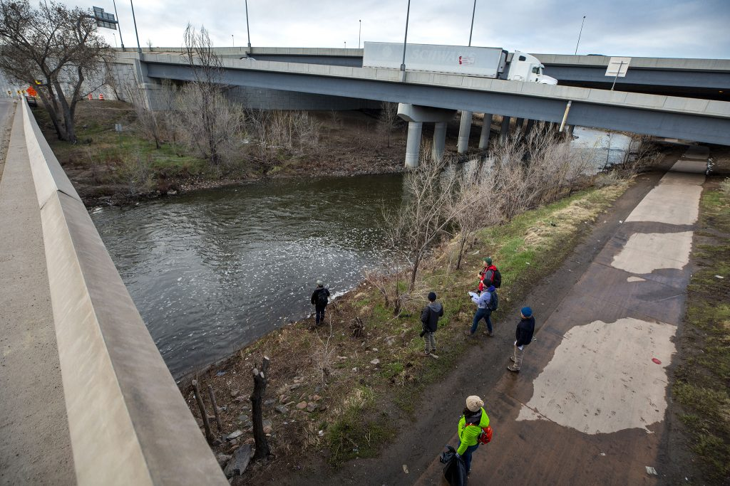 The third-annual BioBlitz species count on the Globeville stretch of the South Platte River. April 23, 2021.
