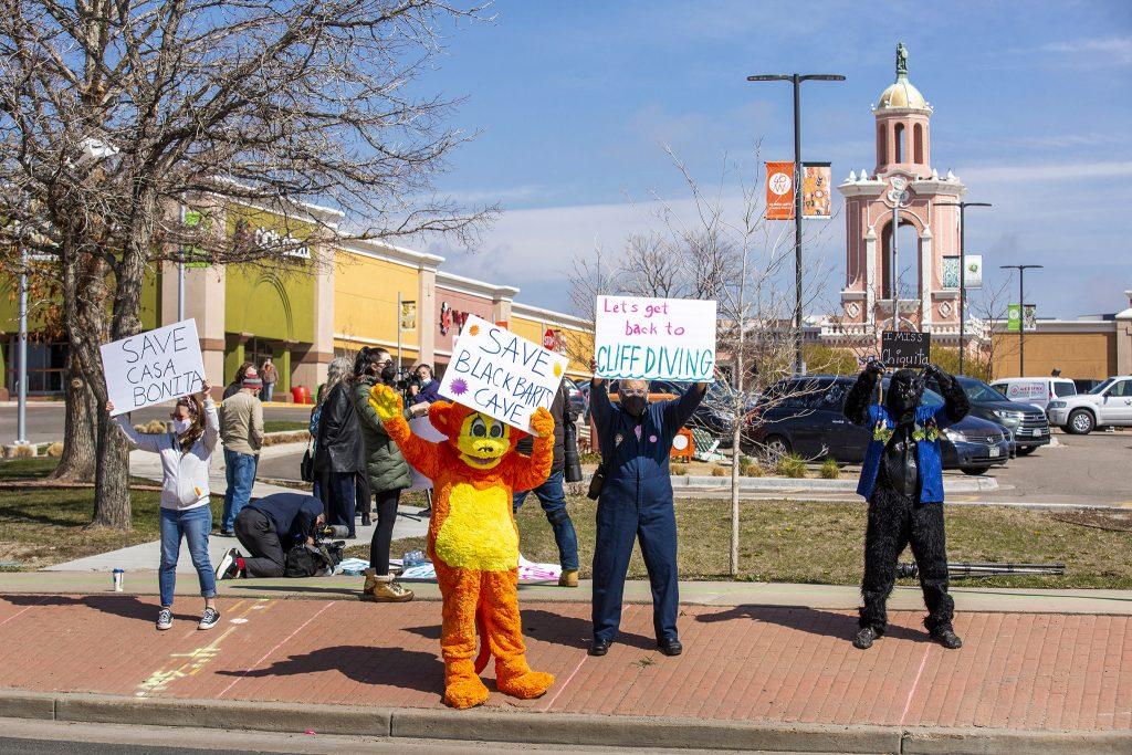 A rally to save Lakewood's Casa Bonita. April 24, 2021.