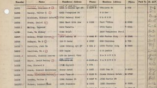 An excerpt of a KKK membership ledger, dating to the 1920s, that History Colorado published online in its entirety.