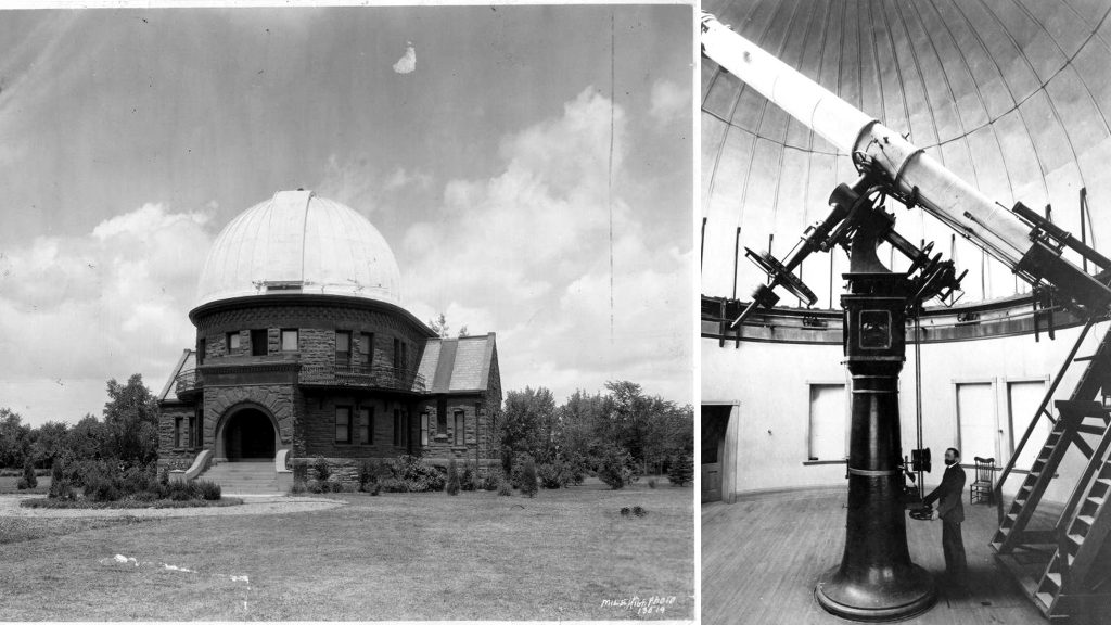 Dr. Herbert A. Howe and the University of Denver's Chamberlin Observatory, circa 1910.