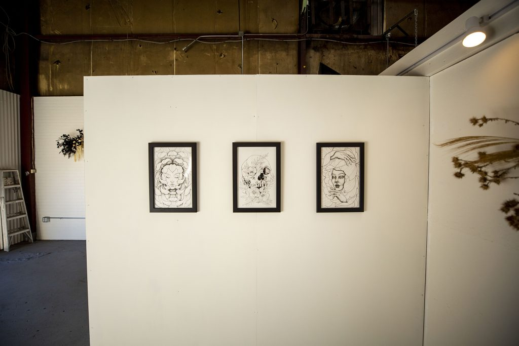 The Memento Mori exhibition inside Bell Projects' space in the RiNo Art District. May 6, 2021.