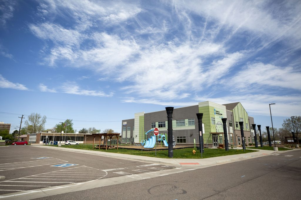 The Center for African American Health near the corner of 33rd Avenue and Holly Street in Northeast Park Hill.  May 8, 2021.