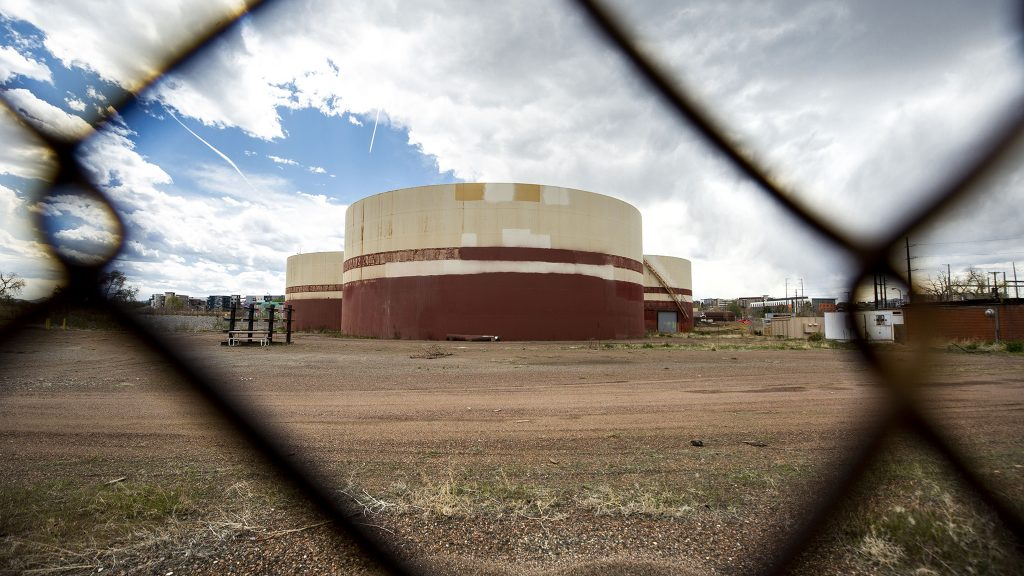 "Xcel Energy's ""Zuni tank farm"" on the edge of Sun Valley. May 13, 2021."